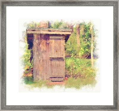 Outhouse Framed Print by L Wright