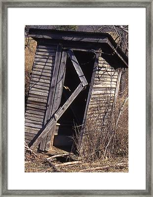 Outhouse1 Framed Print by Curtis J Neeley Jr