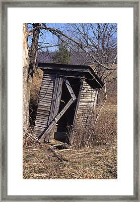 Outhouse3 Framed Print by Curtis J Neeley Jr