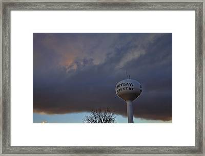 Outlaw Country  Framed Print by Toni Hopper