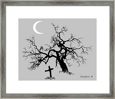 Outlaw Grave Framed Print by Dave Gafford