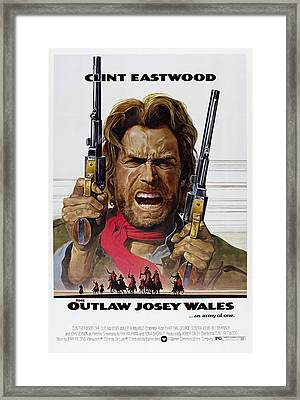 Outlaw Josey Wales Theater Lobby Poster  1976 Framed Print