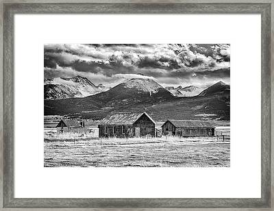 Outliers In Monochrome Framed Print