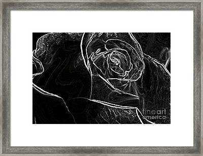 Framed Print featuring the photograph Outline Of A Rose by Micah May