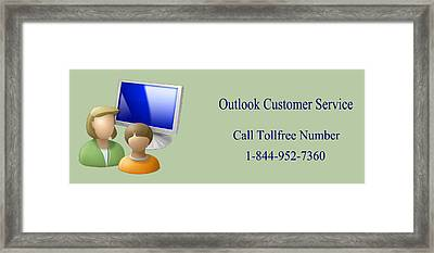 Outlook Customer Care Support Phone Number Framed Print by Katharine Isabella