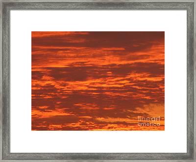 Outrageous Orange Sunrise Framed Print