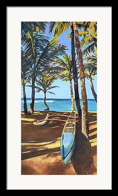 Outrigger Canoe Framed Prints