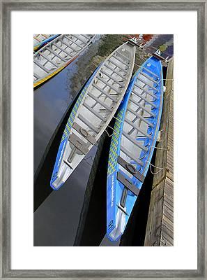 Outrigger Canoe Boats Framed Print by Ben and Raisa Gertsberg