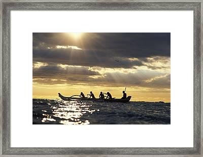 Outrigger Canoe Framed Print