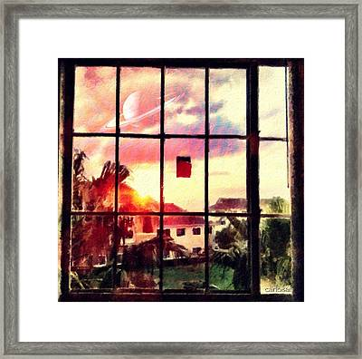 Outside My Window... Framed Print
