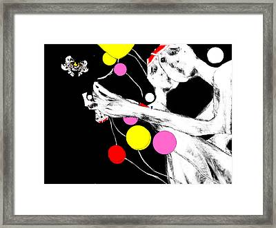 Framed Print featuring the digital art Outside Oneself by Rc Rcd