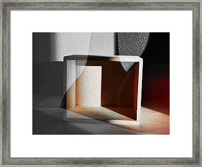 Outside The Box Framed Print by Tom Druin