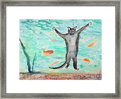 Outside The Fish Tank Framed Print by Stella Sherman
