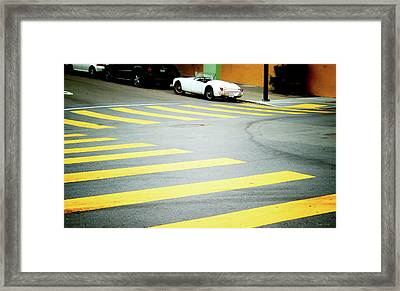 Outside The Lines- By Linda Woods Framed Print