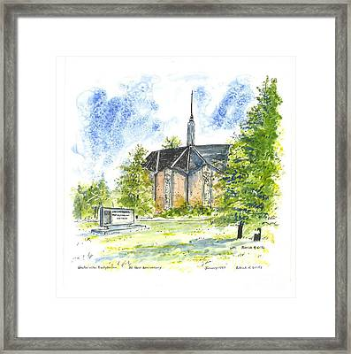 Outside The Sanctuary At Westminster Presbyterian Chuch Framed Print