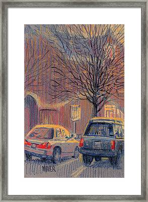 Outside Waiting Framed Print by Donald Maier