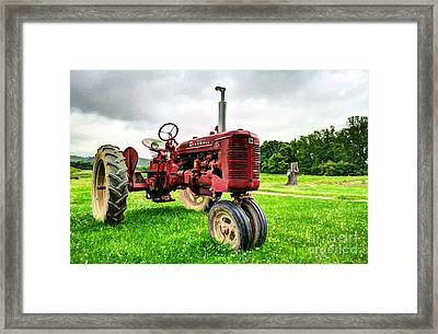 Outstanding In It's Field Framed Print