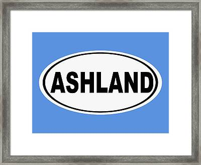 Framed Print featuring the photograph Oval Ashland Oregon Or Ohio Home Pride by Keith Webber Jr