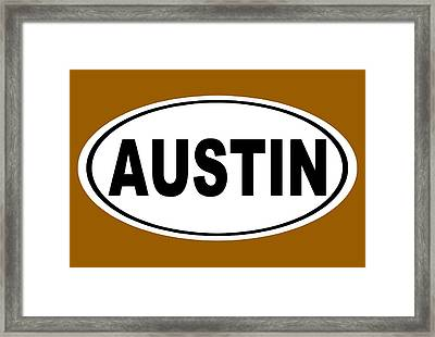 Framed Print featuring the photograph Oval Austin Texas Home Pride by Keith Webber Jr