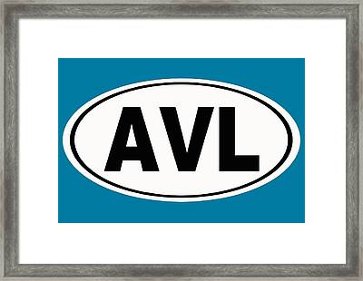 Oval Avl Asheville North Carolina Home Pride Framed Print