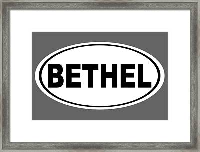 Framed Print featuring the photograph Oval Bethel Connecticut Home Prid by Keith Webber Jr