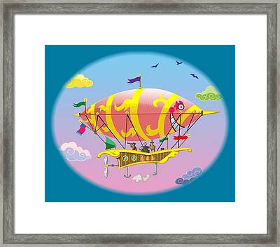 Framed Print featuring the digital art Dreamship II by J L Meadows