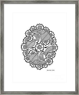 Oval Lace Framed Print