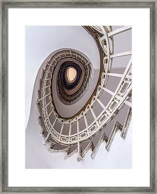 Oval Staircase In Light Tones Framed Print