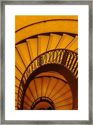 Oval Stairs To Nowhere Framed Print