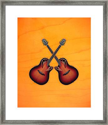 Ovation Acoustic Guitar Framed Print