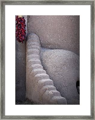 Oven And Chilies Framed Print