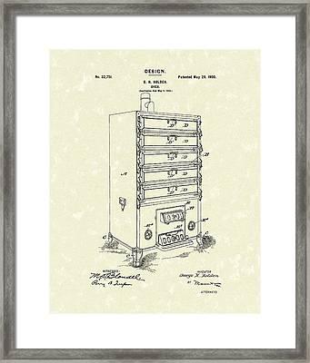 Oven Design 1900 Patent Art Framed Print by Prior Art Design