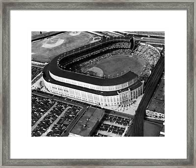 Over 70,000 Fans Jam Yankee Stadium Framed Print by Everett