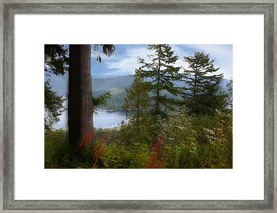 Over Burrard Inlet Framed Print by Barbara  White