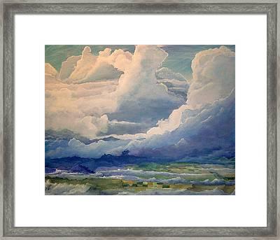 Over Farm Land Framed Print by John Wise