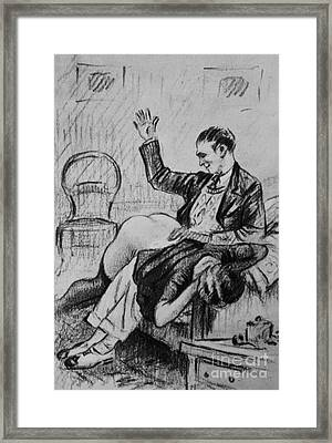 Over His Knee Framed Print by P Beloti