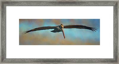 Over Land And Sea Framed Print by Jai Johnson