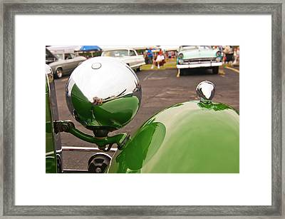 Over My Shoulder 2042 Framed Print by Guy Whiteley