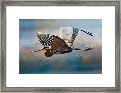 Over Ocean Skies Framed Print