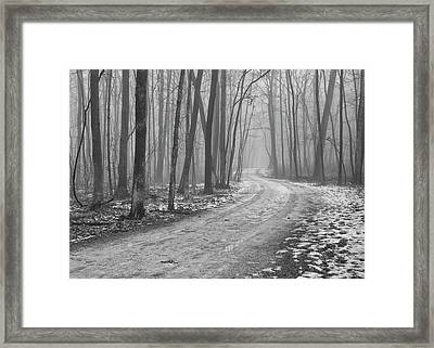 Over River And Through Woods Framed Print by N. Vivienne Shen Photography