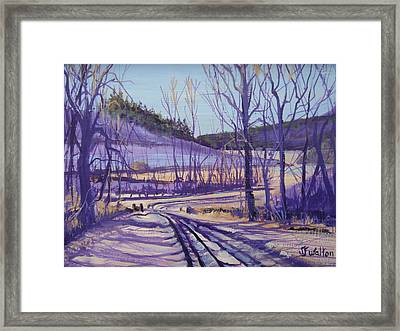 Over The Bridge And Through The Woods Framed Print by Judy Fischer Walton