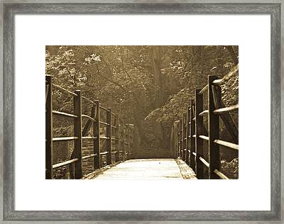 Over The Bridge Framed Print by Brian Roscorla