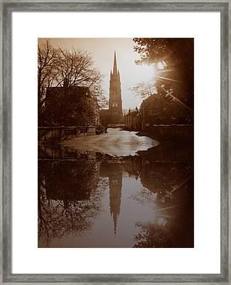 Over The Bridge Framed Print by Naomi Tebbs