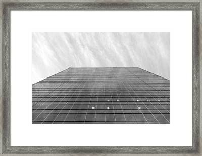 Framed Print featuring the photograph Over The City by Valentino Visentini