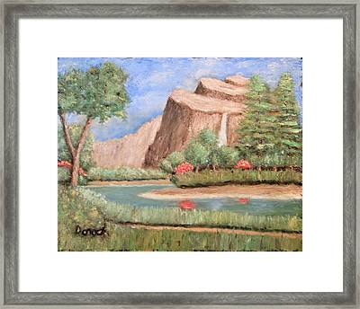 Over The Cliff Framed Print