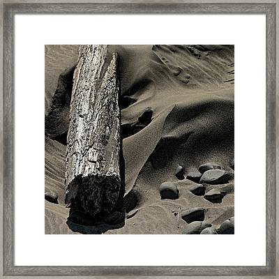 Over The Dune Framed Print by Bonnie Bruno