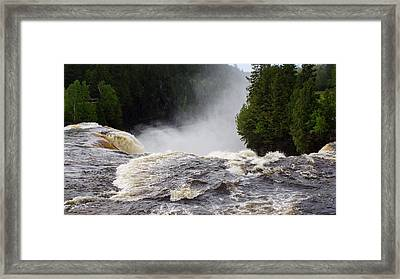 Over The Edge Framed Print by David and Lynn Keller