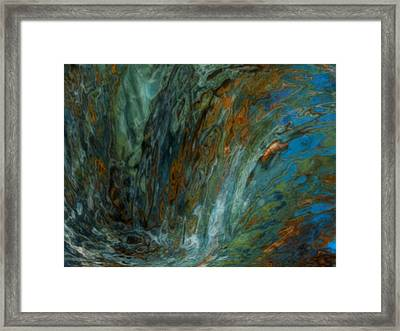 Over The Edge Framed Print by Jack Zulli