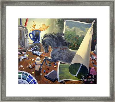 Over The Edge Framed Print by Jeanne Newton Schoborg