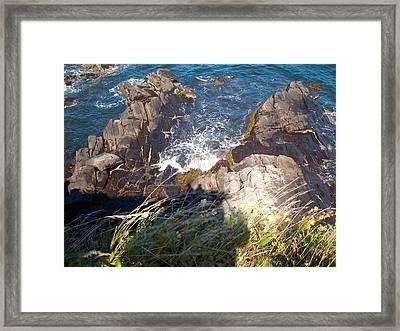 Over The Edge Framed Print by Samantha  Gilbert